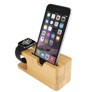 Elegante Soporte Ecológico Para Cargar Tu Apple Watch y Tu iPhone